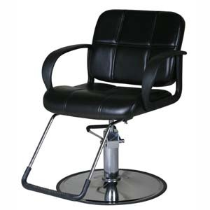 Merveilleux Black Styling Chair With Round Base