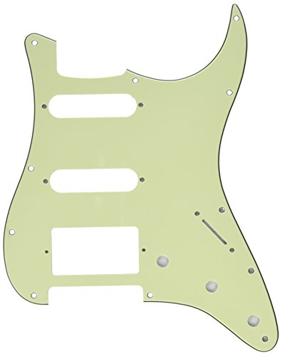 [Kmise Z4906 HSS 3-Ply Guitar Pickguard Scratch Plate Mint Green for Fender Strat Replacement] (Mint Green Pickguard)