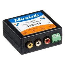 Muxlab 500049 Stereo AV/IR Pass-Thru Balun (Female RCA) ()