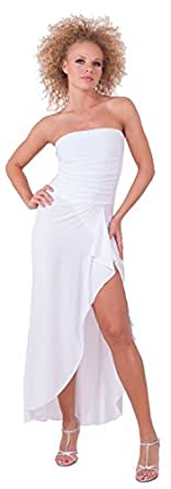 Sophisticated Long Formal Cocktail Sleeveless Dress - EMPRESS TUBE White