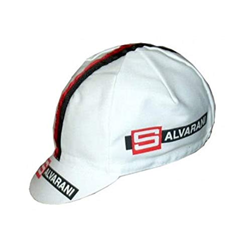 - APIS Salvarani Vintage Cotton Cycling Cap - Bicycle Cap Outdoors Anti Sweat White