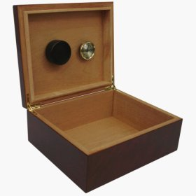 25-cigar Humidor Dark Burlwood Finish