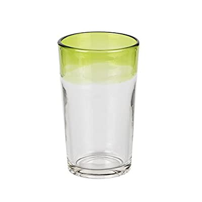 The Jay Companies Rim Highballs Glass (Set of 4), Green