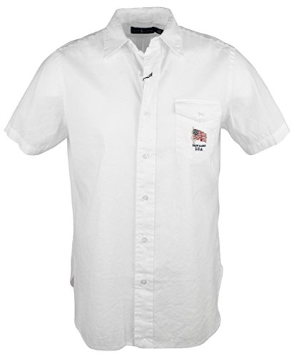 Ralph Lauren Mens Casual USA Button Down Shirt (Large, ()