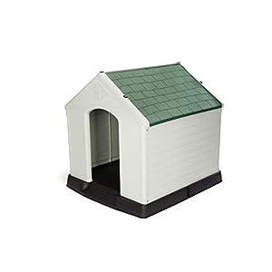 GARDIUN KZT1003 – Caseta de Perro Zeus Maxi Resina 105x96x98 cm Beige/Verde