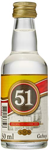 Cachaça Miniatura 51 Pirassununga, 50Ml