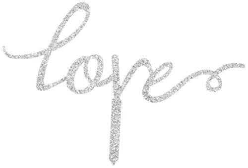 Unik-Occasions-Love-Acrylic-Wedding-Cake-Topper-Silver-Glitter