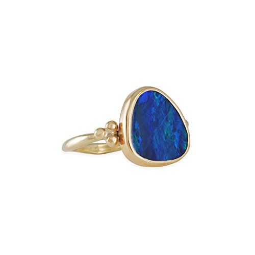Emily Clay - EMILY AMEY - One-of-a-Kind Opal Ring in 14K gold, Size 6.5