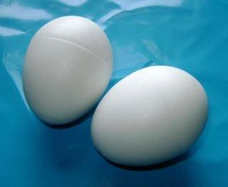 Pair of Dummy Chicken White Plastic Chicken Egg - Encourage hens to lay