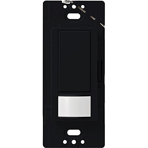 Lutron Maestro Motion Sensor switch, no neutral required,  600 Watts Single-Pole/Multi Location, MS-OPS5M-BL, Black
