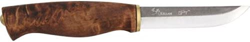 Kellam Knives KPW4 Carbon Steel Wolverine Fixed Blade Knife with Birch Handle