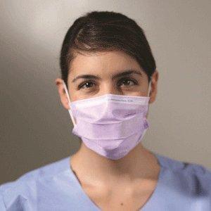 Kimberly Clark Healthcare 25867 KC100 Earloop Procedure Masks 50/Bx Yellow