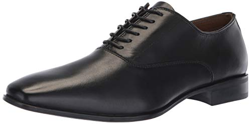 ALDO Men's OCILAWET Oxford, Black Leather, 12 D US ()