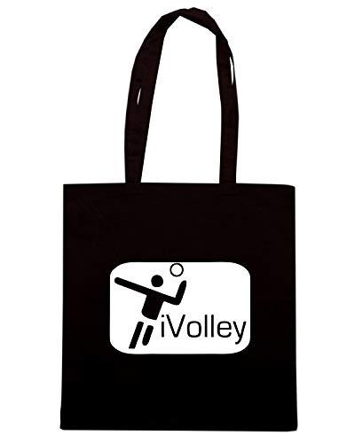 Borsa Shopper Nera OLDENG00713 VOLLEY BALL I LOVE VO LIGHT
