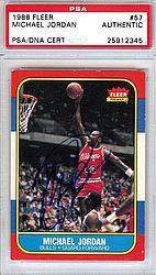 Michael Jordan Signed 1986 Fleer Rookie Card 57 Vintage