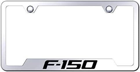 Chevrolet Camaro Logo License Plate Notched Frame Black Powder Stainless Steel