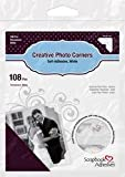 Bulk Buy: 3L/HELMAR Classic Style Paper Photo Corners .5'' (12mm) 126/Pkg White 3L-PC-1628 (4-Pack)