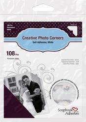 Bulk Buy: 3L/HELMAR Classic Style Paper Photo Corners .5'' (12mm) 126/Pkg White 3L-PC-1628 (4-Pack) by HELMAR