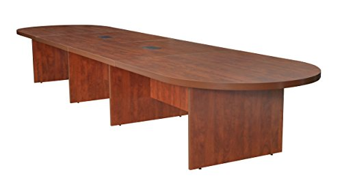 Regency LCTRT21652-CH with with 2 Power Data Grommets Legacy Modular Racetrack Conference Table, 216-inch, Cherry
