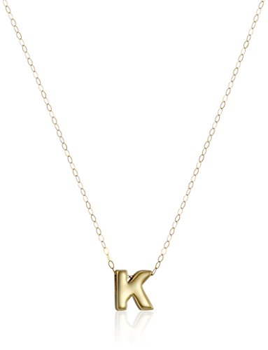 10k Yellow Gold Polished Small Initial