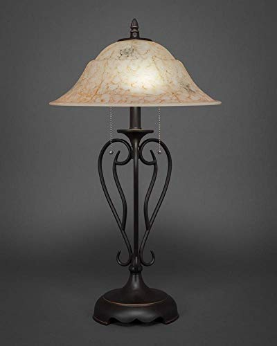 (Table Lamp with Italian Marble Glass Shade)