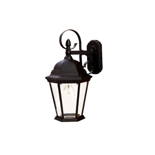 Acclaim 5412BK New Orleans Collection 1-Light Wall Mount Outdoor Light Fixture, Matte Black - New Style Light