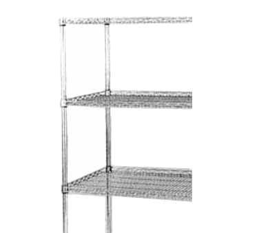 (Wire Shelf, Drop Mat, 24x36 in, Chrome )