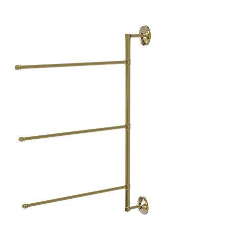 - Allied Brass Prestige Monte Carlo 28 in. 3 Swing Arm Vertical Towel Bar