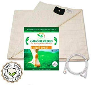 Earthing Grounding FULL Size (60 x 88) Flat Sheet - 95% Organic Cotton, 5% Silver Thread for EMF Protection, Antioxidants, Ion Exchange, Inflammation, Better Sleep, Reduced Pain.