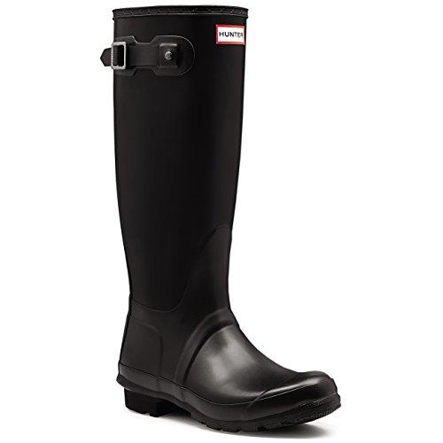 Womens Hunter Original Wide Fit Rainboots Waterproof Snow Wellingtons - Black - 5 (Womens Wide Calf Hunter Boots)