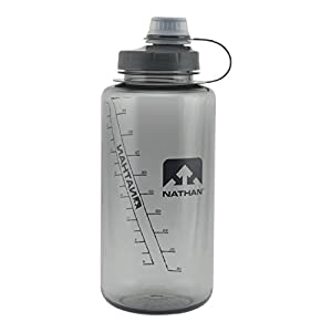 Nathan Big Shot Narrow Mouth Bottle, Grey, 1-Liter