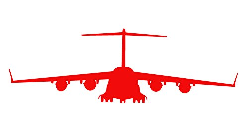 Auto-Vynamics-Vinyl-Military-Plane-Helicopter-Silhouette-Decal-Boeing-C-17-Globemaster-III-Design-Multiple-Colors-Sizes-Available-1-Piece-Kit-Single-Decal