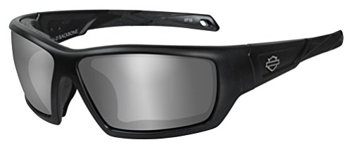 Harley-Davidson Men's Backbone PPZ Sunglasses, Gray Lens / Black Frame - Sunglasses Wiley X Heads Large