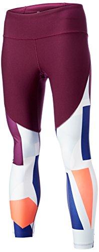 Under Armour Women's Balance Printed Crop Pants, Merlot (564)/Metallic Iron, X-Large