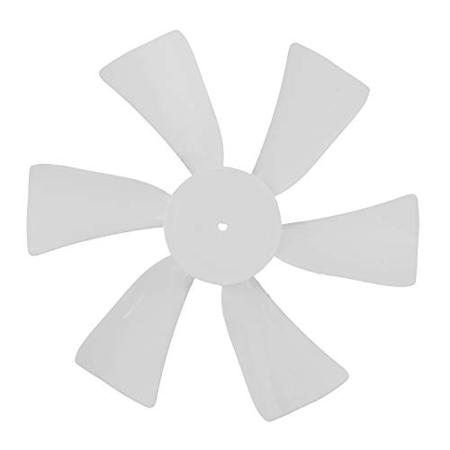 Dumble Fan Blades Replacement with 0.094in D-Bore, 6in White RV Bathroom Fan Blade Replacement Camper Fan Blade