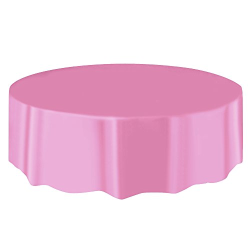 Boshen 10pcs/Pack Plastic Table Cloth 84''/54''x108'' Table Cover Cloth for Restaurant Banquet Wedding Party Festival Decor (Pink, 84 inch-Round) by Boshen