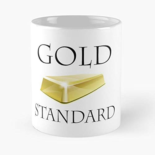 - Gold Ingot Bar Standard - 11 Oz Coffee Mugs Unique Ceramic Novelty Cup, The Best Gift For Holidays.