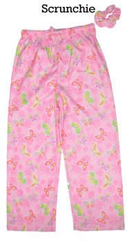 Dream Apparel Buttefly Sleep Pants PINK X - Large