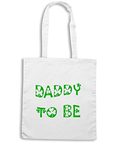 Speed Shirt Borsa Shopper Bianca TIR0028 DADDY TO BE IRISH WHITE