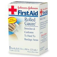 Red Cross First Aid Sterile Rolled Guaze, 2