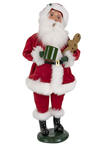 Byers' Choice Red Velvet Santa Caroler Figurine from The Santa Collection #3161F (New 2019) (Red Collection Velvet)