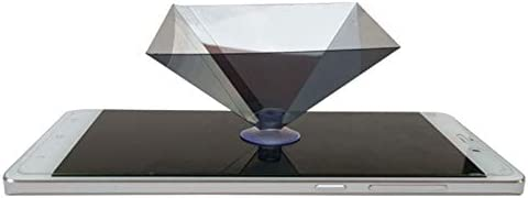 Coomir 3D Hologram Pyramid Display Projector Video Stand Portable for Smart Mobile Phone 2 St/ück