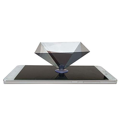 Eugeneq 3D Hologram Pyramid Display Projector Video Stand Universal for Smart Mobile Phone