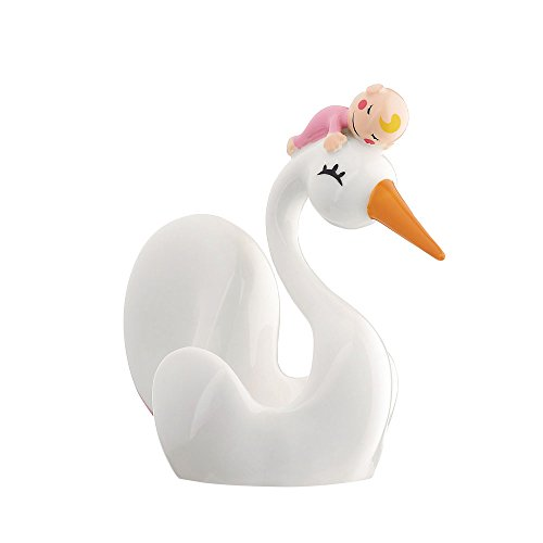Price comparison product image Alessi Bimboniera Baby Shower Favour in Porcelain, pink 4""