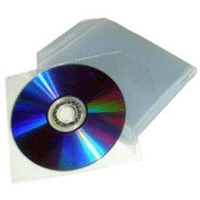 214 opinioni per 100 bustine per CD e DVD trasparenti in plastica pvc con aletta di chiusura