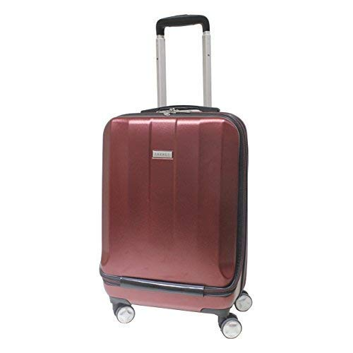 "Exzact Cabin luggage/Carry-on Bag 20"" / hard shell/Front Pocket / 4 wheels 360° (Burgundy, - Luggage On Burgundy Carry"