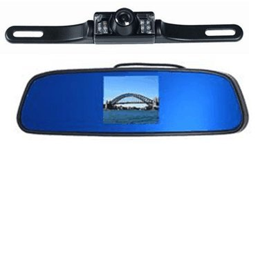 Cheap Rear View Mirror Camera System-3.5″ Digital LCD Rear View Mirror Monitor & Color Rear View Backup Camera with 120° View, Infrared night Vision, License Plate Mount, Free Bonus of 20 ft Video Cable. – by YanTech USA