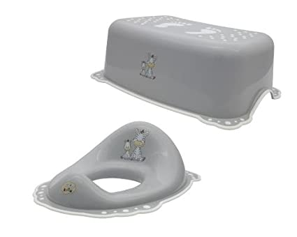 Maltex baby riduttore per wc sgabello e set grigio: amazon.it