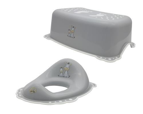 Maltex Réducteur de toilette de bébé et Marchepied Ensemble, gris Supreme Baby Limited BA0542GRE