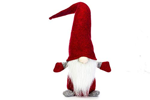 7ProductGroup Handmade Christmas Gnome Ornaments For Men, Women & Kids   Well Crafted Red Figurine For Home D